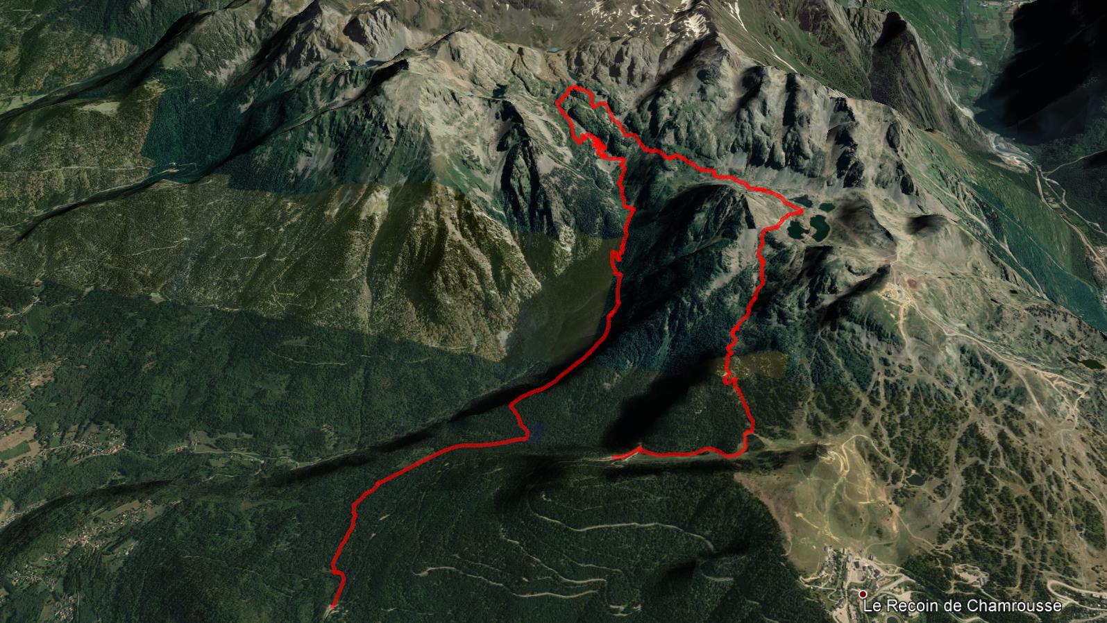 aperçu trajet rando-trail Robert/Longet
